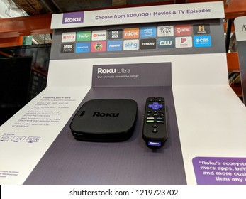 June 1, 2018:  Roku Ultra on display at Costco. The Roku Streaming Player, or simply Roku, is a series of streaming players manufactured by Roku, Inc.