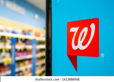 June 1, 2019 Sunnyvale / CA / USA - Walgreens logo inside one of the stores
