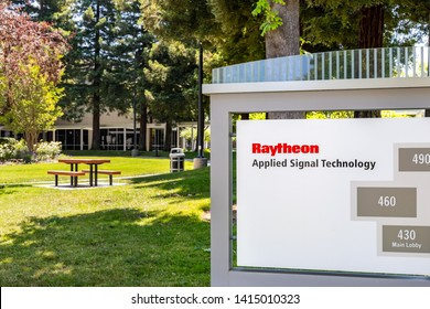 June 1, 2019 Sunnyvale / CA / USA - Raytheon Applied Signal Technology (AST) offices in Silicon Valley, South San Francisco bay area; Raytheon acquired AST in 2010