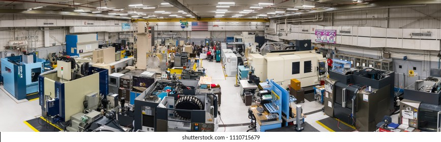 June 10, 2018 La Canada Flintridge / CA / USA -  Interior view of one of the rooms of the Spacecraft Fabrication Facility, the Jet Propulsion Laboratory (JPL)