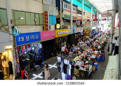 June 10, 2018, Seomun Market, Taegu City, South Korea: It is also a tourist destination that many tourists visit every year in Daegu's representative traditional market.