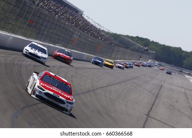 June 11, 2017 - Long Pond, PA, USA: Ryan Blaney (21) brings his car through the turn during the Pocono 400 at Pocono Raceway in Long Pond, PA.