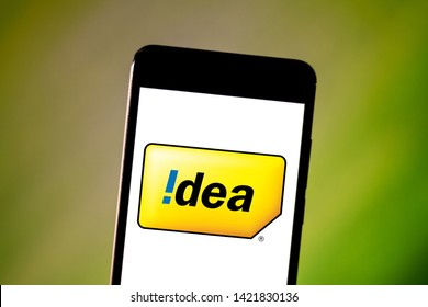 June 11, 2019, Brazil. In this photo illustration the Vodafone Idea Limited logo is displayed on a smartphone.