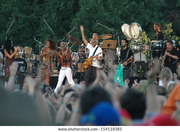 JUNE 12, 2006 - BERLIN: Gilberto Gil at a concert at the House of World Cultures in Berlin.