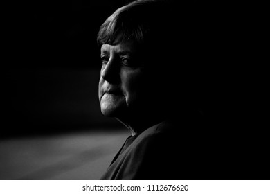 JUNE  12, 2017 - BERLIN: German ChancellorAngela Merkel before a meeting with African heads of Stae in the Federal Chenclery in Berlin.