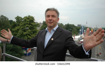 "JUNE 15, 2006 - BERLIN: Klaus Wowereit at the ""Fanmeile"" which will open during the soccer world championship in Germany, Berlin."