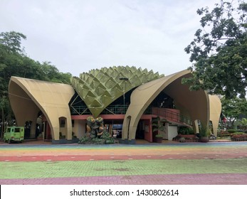 June 15, 2019-Davao Philippines : A durian shaped museum at the people's park in Davao City Philippines