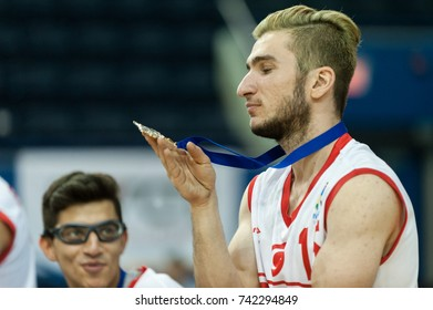 June 16, 2017 - Toronto, Ontario, Canada. Players during medal ceremony at 2017 Mens U23 World Wheelchair Basketball Championship