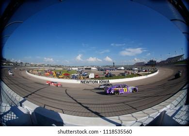 June 17, 2018 - Newton, Iowa, USA: Ryan Truex (11) brings his car through the turns during the Iowa 250 at Iowa Speedway in Newton, Iowa.