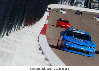 June 17, 2018 - Newton, Iowa, USA: Matt Tifft (2) brings his car down the backstretch during the Iowa 250 at Iowa Speedway in Newton, Iowa.