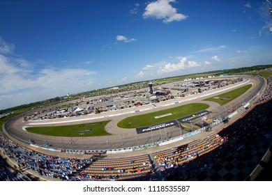 June 17, 2018 - Newton, Iowa, USA: The NASCAR Xfinity Series races during the Iowa 250 at Iowa Speedway in Newton, Iowa.