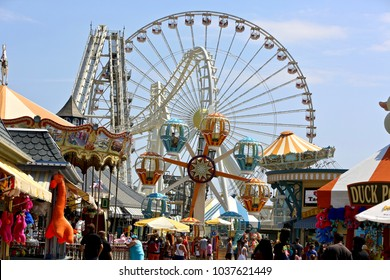 """June 17,2017 Wildwood N.J : Morey""""s Pier Amusement park has raised their park prices for the new upcoming season."""
