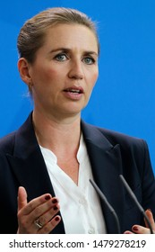 JUNE 18, 2019 - BELIN: Mette Frederiksen - meeting of the German Chancellor with the Denish Prime Minister, Federal Chanclery.