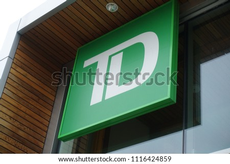 June 19 2018 Td Bank Logo Stock Photo Edit Now 1116424859
