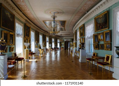 June 19th 2018. Pavlovsk, St Petersburg , Russia. The interior of the Pavlovsk Palace - summer palace of Emperor Paul I