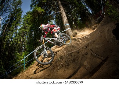 JUNE 2, 2012 - VAL DI SOLE, TRENTINO, ITALY. Aaron Gwin (USA) at the UCI Mountain Bike World Cup.