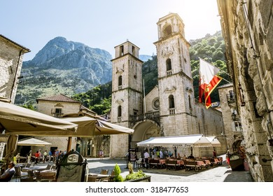 June 2, 2015.Kotor.Montenegro.Church of Saint Tryphon in the old town of Kotor.Montenegro.