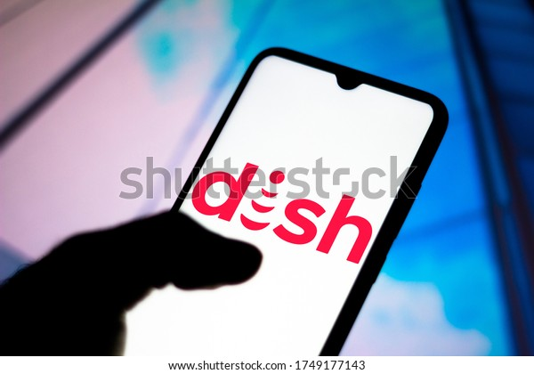 June 2, 2020, Brazil. In this photo illustration the DISH Network Corporation logo seen displayed on a smartphone.