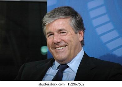 "JUNE 20, 2007 - BERLIN: Josef Ackermann (chairman of the Deutschen Bank) - discussion panel on ""International Financial markets"" at the Willy Brand House in Berlin."