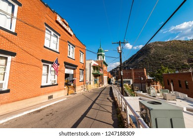June 20, 2017 - Bisbee, Arizona, USA is an old mining town that is now a popular arts colony.  This historic city was built early 1900s and is the county seat of Cochise County.