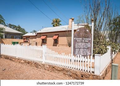 June 20, 2017 - Tombstone, Arizona, USA -  Attorney Allen English's  Adobe home build in 1882