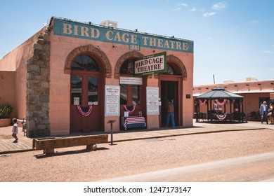 June 20, 2017 - Tombstone, Arizona, USA is an old mining town of the USA Wild West and the historic buildings and actors are a popular tourist attraction