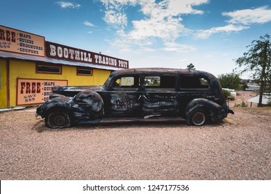June 20, 2017 - Tombstone, Arizona, USA is an old mining town of the USA Wild West. Boothill graveyard is a famous cemetery.