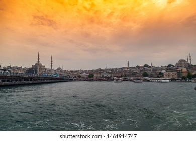June 20 2019, Istanbul - Turkey: Istanbul Golden Horn and Citty Ferry