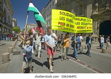 JUNE 2004 - Parade demonstration against war in Irag, Avignon, France