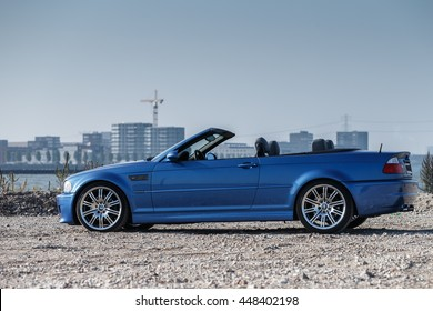 June 2016 BMW M3 2002 type e46 taken on a sunny day in the Netherlands