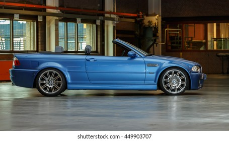 June 2016 BMW M3 2002 type e46 inside a building in the Netherlands