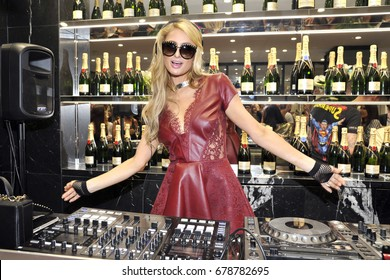 June 2017 - Paris Hilton dj set during Philipp Plein event
