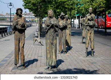 JUNE 2018 - DUBLIN: the Famine Monument (by  Rowan Gillespie), Dublin, Ireland.