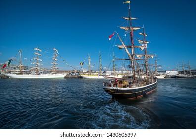 June 2019 Sail Scheveningen, The Netherlands. Sailboats at scheveningen