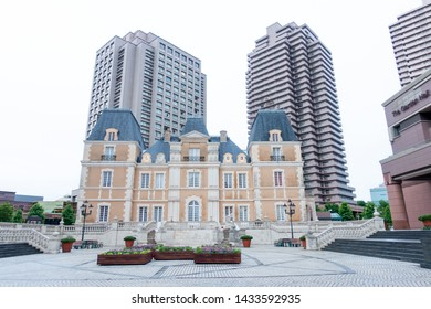 June 2019 - Tokyo, Japan: Ornate building near Ebisu Station in Yebisu Garden Place, a popular shopping area in Shibuya ward.