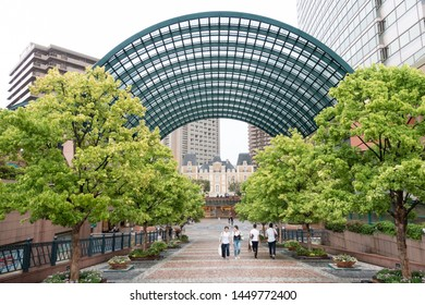 June 2019 - Tokyo,Japan: Yebisu Garden Place is built on the former site of a beer brewery, where the still existing Yebisu Beer brewed since 1890. There are many shops around to shop, famous in Tokyo