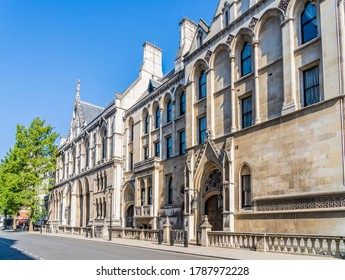 June 2020. London. The Royal Courts of Justice in Holborn, London, UK, Europe