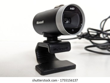 June, 2020 UK - Product Photography Of Microsoft LifeCam Studio HD Web Cam 1393, 720p