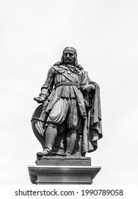 June 2021, statue of Michiel de Ruyter stands on Boulevard de Ruyter in his birthplace Vlissingen, in the Dutch province of Zeeland.