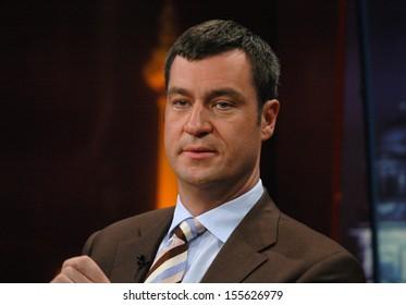 "JUNE 23, 2005 - BERLIN: Markus Soeder before a televised discussion (""Berlin Mitte"" - ZDF) in Berlin."