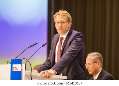 June 23, 2017, Neumünster: Next prime minister Daniel Günther from CDU at the voting about the coalition agreement in Schleswig-Holstein Landesparteitag der CDU Schleswig-Holstein, Politik, 23.06.2017