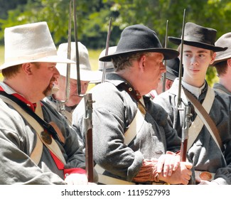June 23, 2018-Republic, Missouri, USA Civil War Reenactment at Wilson's Creek National Battlefield