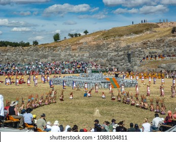 June 24, 2010 - Cusco, Peru: The Inca Festival of Inti Raymi being celebrated at the Sacsayhuaman archaeological site