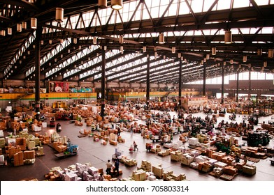 June 24, 2014, Ota-Ku, Tokyo, Japan : Ota Wholesale Market, Biggest fruit, vegetable and flower market in Japan