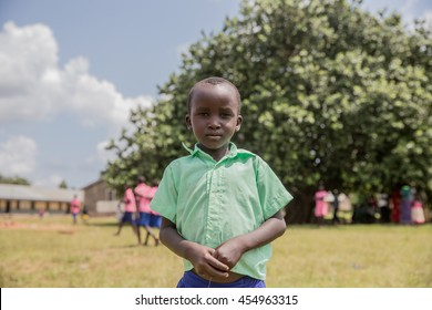 June 24, 2016: A child poses for a photo at a school in Soroti, Uganda