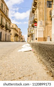 June 24, 2018 – Grammichele, Sicily, Italy. Just one of the many street views of a lovely town in Sicily, Italy.