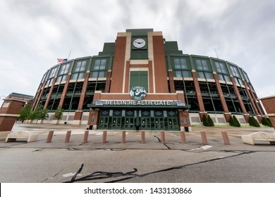 June 24, 2019 - Green Bay, Wisconsin, USA: Historic Lambeau Field, home of the Green Bay Packers and also known as The Frozen Tundra