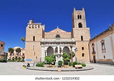 June 25, 2013. Cathedral Santa Maria Nuova of Monreale near Palermo in Sicily Italy.