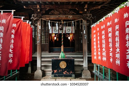 June 25, 2014 Shinagawa, Tokyo, Japan : Shinagawa Jinja or Shinagawa Shrine, built in 1187 as a residence of god Amanohiranomenomikoto. Also one of Tokyo-jissha designated by Emperor Meiji.