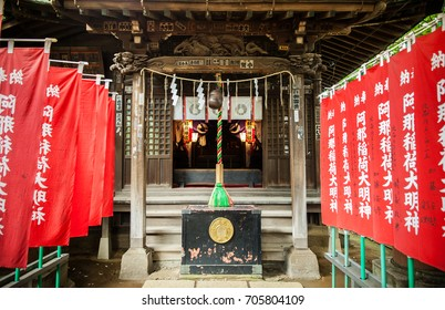 June 25, 2014 Shinagawa, Tokyo, Japan : Shinagawa Jinja or Shinagawa Shrine, built in 1187 a residence of god Amanohiranomenomikoto. Designated by Emperor Meiji.